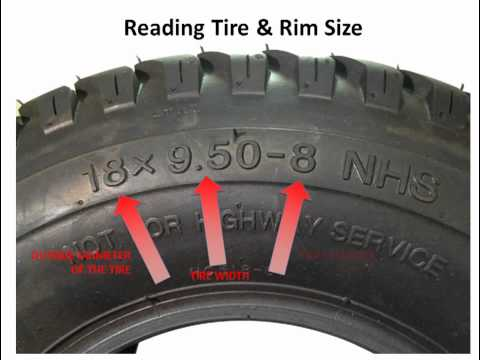 Lawnmower tires - How to read the numbers on the sidewall of a lawn mower tires