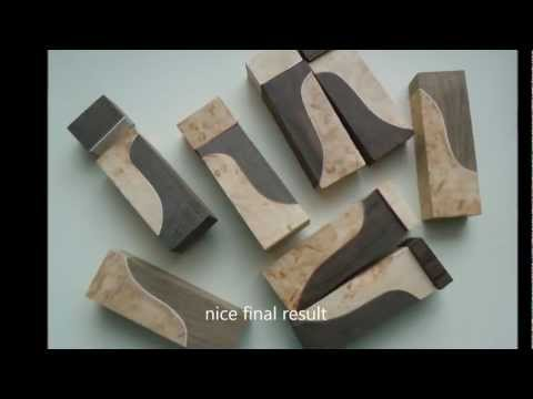 How to make knife making handle material - exceptional CUSTOM cutting