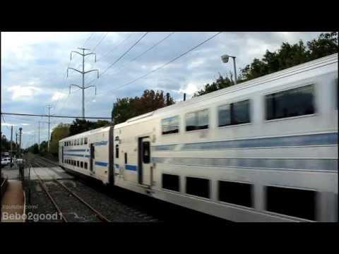 LIRR Port Jefferson: Shuttle Trains at Greenlawn NY, RR [DE/DM30]