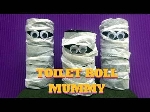 Halloween Craft - Toilet Paper Roll Mummy - Toilet Paper Roll Crafts