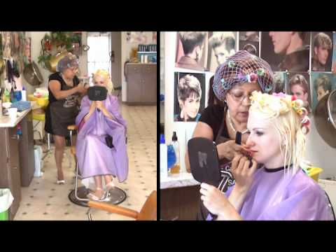 preview clip of Kat's Bleach Touch Up, Roller Set, and Marilyn Monroe Style
