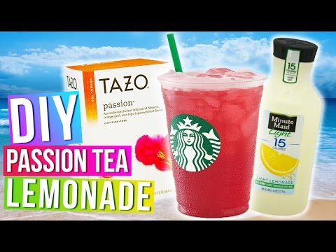 DIY Starbucks Passion Tea Lemonade