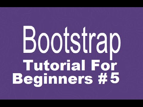 Bootstrap Tutorial For Beginners 5 - Creating Responsive Navbar with Dropdown Menus Part 2