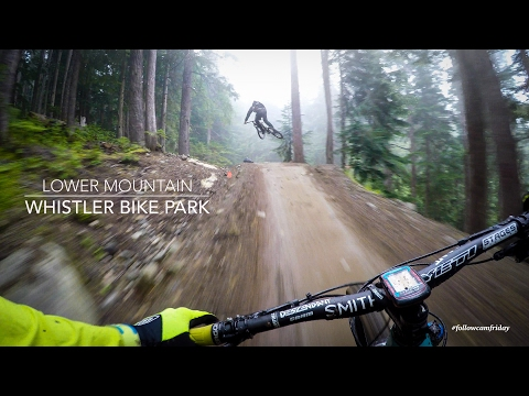 Mountain Biking the lower Whistler Bike Park