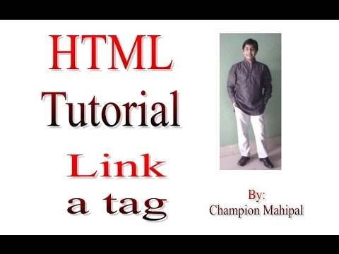Learn HTML Tutorial 16 link anchor tag with example