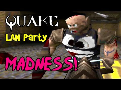 MADNESS! Quake 1 Deathmatch, Multiplayer Gameplay on PC with Mods! (LAN Party Ep 7)