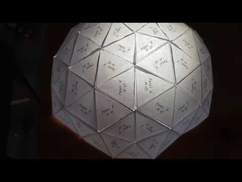 How to make a Geodesic Dome Lamp Shade : DIY project from paper & cardboard boxes