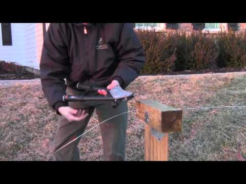 How to Install Orchard Quality Trellis Wire Video