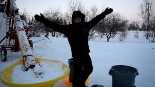 20 Foot Tall Snowman! - Dueck Family