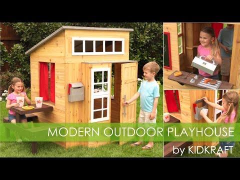 Modern Outdoor Playhouse - Toy Demo - KidKraft
