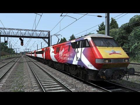 Train Simulator 2018 Class 91 Flying Scotmans London Kings Cross to Stevenage
