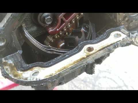 2002-2004 ford explorer harmonic balancer removal .. and front timing chain inspection