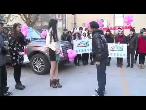 Beijing rich girl propose to a guy in the public and get rejected!