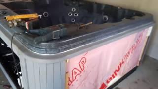 DIY hot tub leak repair