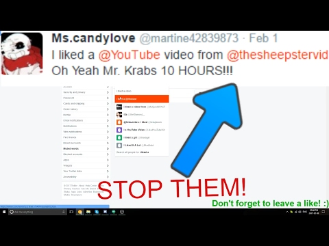 How to stop the @YouTube notifications on Twitter!