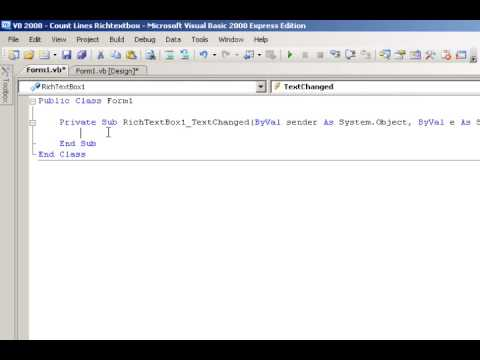 Visual Basic 2008 Tutorial - Count Lines in Richtextbox