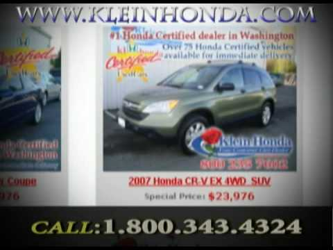 Seattle Honda Used Cars (Call: 1-800-343-4324)