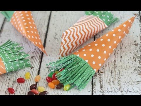 DIY Easter Carrot Treat Bags