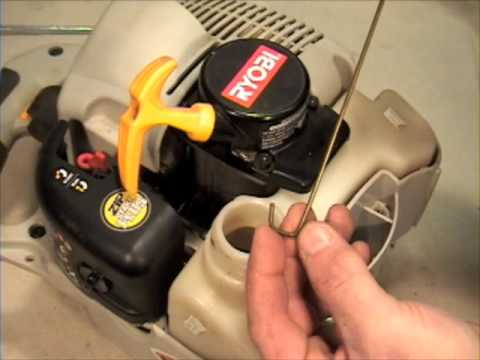 Change the fuel filter on your string trimmer or leaf blower!