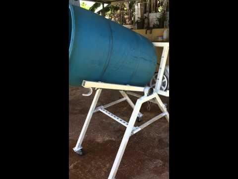 Homemade portable cement mixer prt1