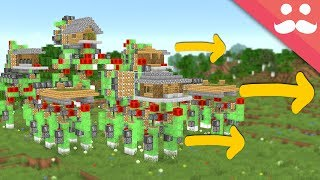 I Made a Walking Town in Minecraft