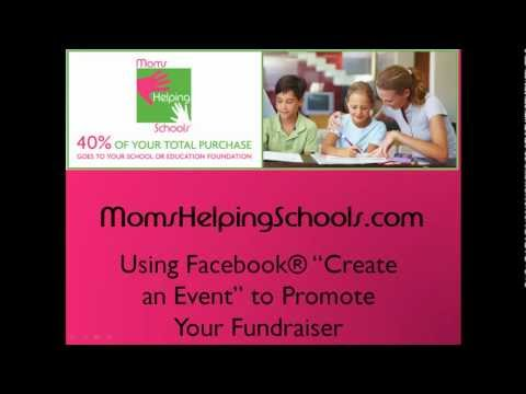 Moms Helping Schools | Using Facebook Events to Promote | School Fundraising Companies