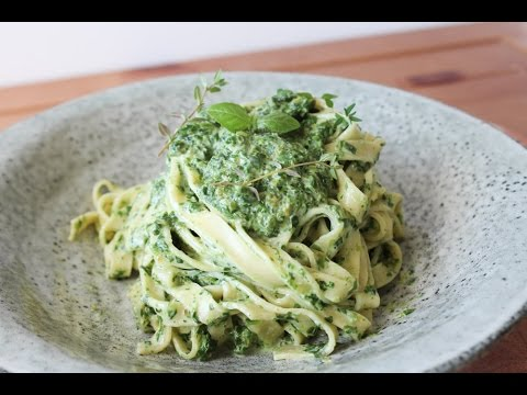 How To Make A Cream Cheese Spinach Sauce With Pasta - By One Kitchen Episode 255