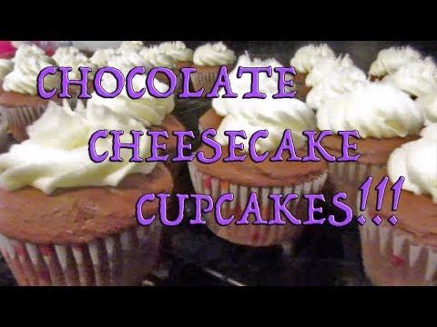 Chocolate Cheesecake Cupcakes Baking Tutorial