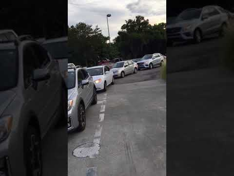 Hurrican Irma Panic Hits Tampa Bay - Gas Lines at Clearwater Costco