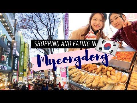 Myeongdong Shopping, Cafes, Street Food + More Aegyo Than You Can Handle   Korea Vlog #7