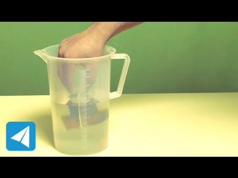 Sinker method to measure volume of irregular floating body | Liquids | Physics