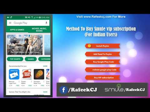How to Buy Smule vip Subscription (for indian users - Without Credit Card)