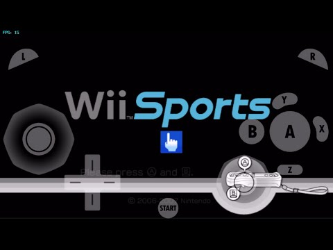 gamecube for ios- Wii Sports (Intro with recorded sound Test) gc4ios, dolphin emulator for ios