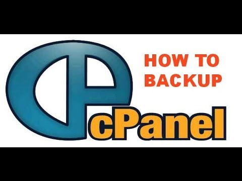 How to backup your hosting account using the cPanel backup function