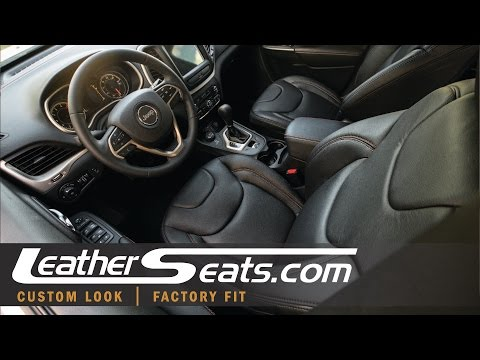 2016 75th Anniversary Edition Jeep Cherokee Leather Interior Upgrade - LeatherSeats.com