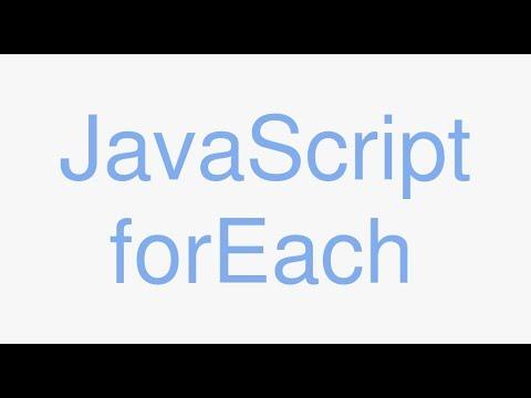JavaScript forEach - javascript tutorials for complete beginners.