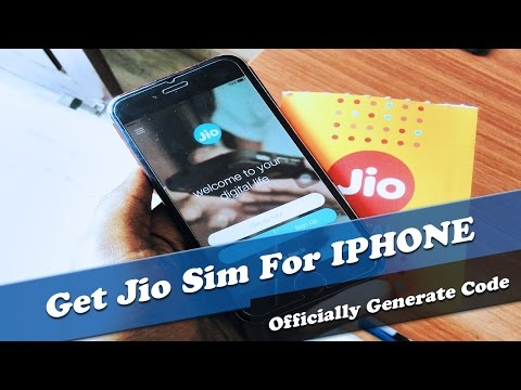 How To Get RELIANCE JIO SIM FOR IPhone | Generate QR Code For Iphone