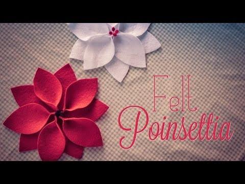 Felt Xmas Poinsettia