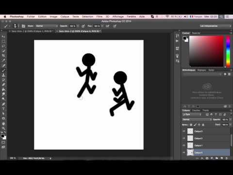 stickman 2D Photoshop CC 2014