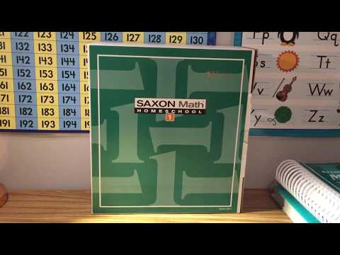 Saxon Math homeschool study kit 1~our curriculum choice 2017-2018 homeschool *peek inside