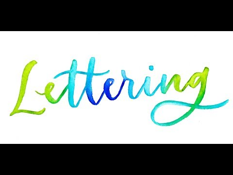 3 Easy Watercolor Lettering Effects Using Brush Pens