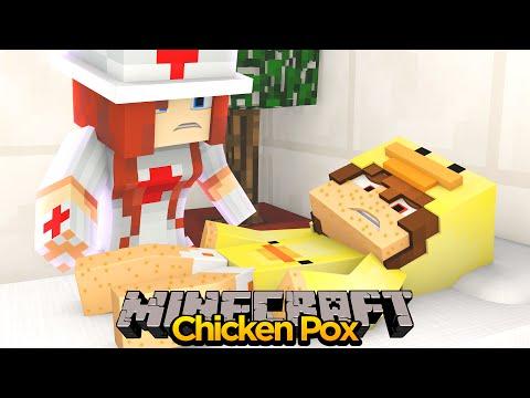 MINECRAFT ADVENTURE - BABY DUCK GETS THE CHICKEN POX!!
