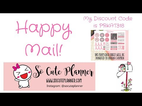 Happy Mail From So Cute Planner May 2018