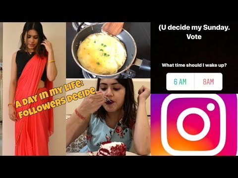 Sunday morning to night routine | What I EAT in a day Bahu look | Instagram Followers decide my day