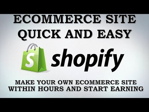 Shopify Store  How To Set Up Your Shopify Store Part 1
