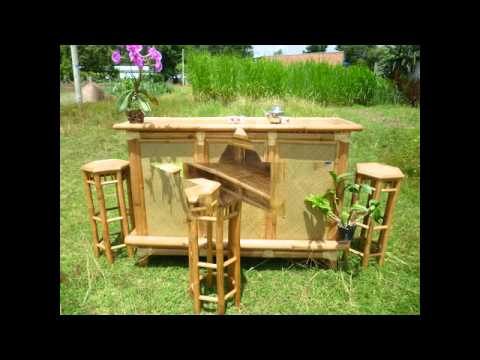 tiki bar, bamboo furniter , bamboo bar