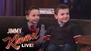 Jimmy Kimmel Interviews YouTube Challenge Halloween Candy Brothers Jake and CJ