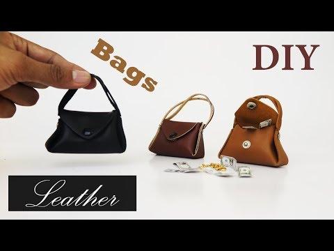 DIY Realistic Miniature  Handbags - Handmade dollhouse