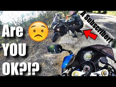 MOTORCYCLE CRASH? ARE YOU OK? MEETING A SUBSCRIBER