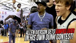 Allen Iverson Gets JUMPED OVER! Mac McClung VS Kevin Porter Jr DUNK CONTEST + Mac AI Jersey TRIBUTE